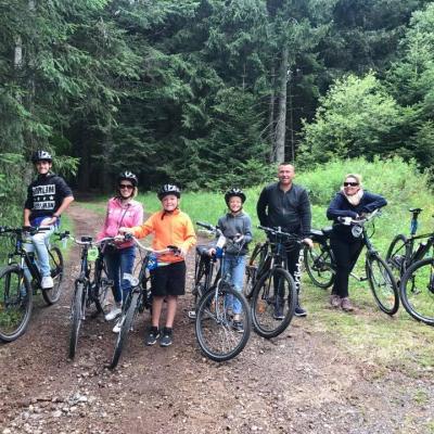 Balade en vélos au Lac du Bouchet