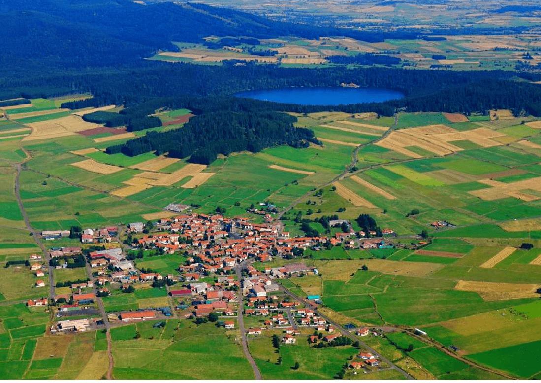 Vue aérienne Commune du Bouchet-Saint-Nicolas